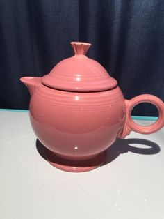FIESTA Fiestaware Tea Pot / Teapot  Rose Glaze Excellent Condition #Fiestaware