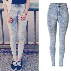 4648940dc3f High Waist Skinny Straight Slim Flower Print Elastic Jeans. Jeans  LeggingsJeggingsLeggings Are Not PantsJean ...
