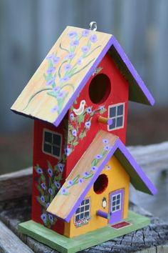 Hand Painted Bird House!