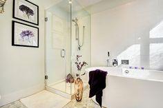Ensuite shower and tub slider 675 x 450 Beautiful Bathrooms, Design Projects, Tub, Shower, Interior Design, Rain Shower Heads, Nest Design, Bathtub, Home Interior Design