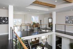 Open spacE: Second floor overlooking the living room #home #homedesign #floordesign #flooplan #wideopen #hallway