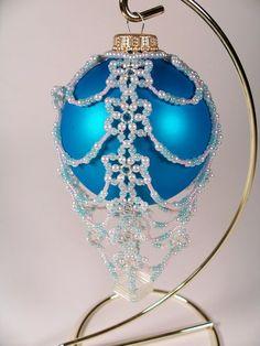 Free Beaded Christmas Ornament Patterns | ... Ornament No. 9, Beading Pattern | ZaneyMay - Patterns on ArtFire