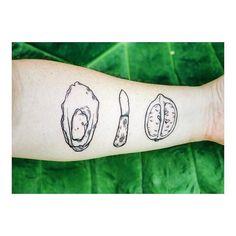 How much do you love food? . . . #Repost @jason.b.james #tattoo #oysters #oysterknife #lemon #lowcountry #lowcountrytradition #oysterroast #freshink #foodlove #dedication #commitment #love #bond #cheflife