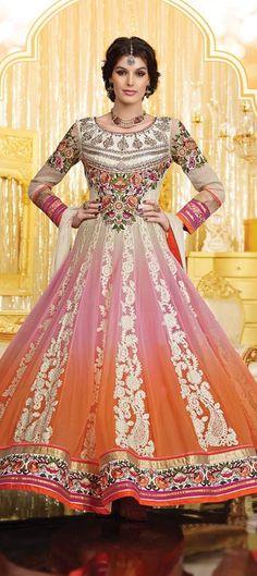 419172: Multicolor color family unstitched Anarkali Suits.