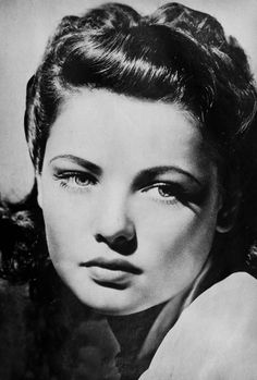 Gene Tierney. We loved her in Laura with hunky savior Dana Andrews, and in The Ghost and Mrs. Muir. And her famous overbite was a frequent topic of convo.