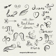 Bird Vector Free Flower Ideas For 2019 Lettering Brush, Doodle Lettering, Lettering Tutorial, Doodle Drawings, Doodle Art, Icon Set, Calligraphy Letters, Flourish Calligraphy, Calligraphy Doodles