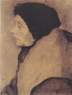 Old woman with a bonnet in profile to the left - Paula Modersohn-Becker