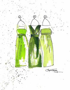 Emerald Green Dresses Art Print - 2013 Color of the Year