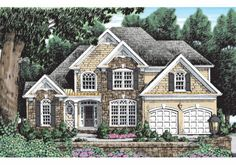Mallory - Home Plans and House Plans by Frank Betz Associates House Plans 3 Bedroom, Garage House Plans, Cottage House Plans, Country House Plans, New House Plans, Dream House Plans, Cottage Homes, House Floor Plans, Affordable House Plans