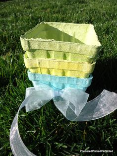 Pondered Primed Perfected: Colors of Springtime ~ DIY Farmers Market Baskets