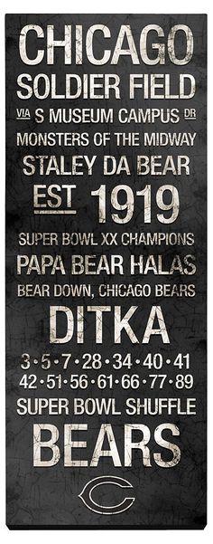 One Kings Lane - Game Day - Chicago Bears Vintage Subway Art