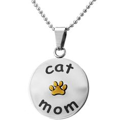Cat Mom Paw Print Necklace at The Animal Rescue Site