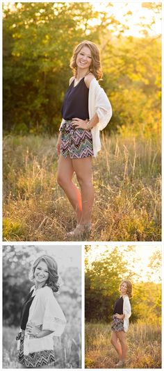 I really love Nicole's outfit for this part of her senior session. The shorts are just adorable and the simple navy top gives the close ups a great timeless feel. We took these in one of the best nature areas outside of downtown Fort Worth---cannot go wrong with a gorgeous girl and lovely light.