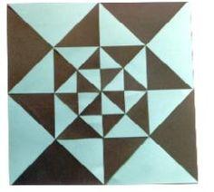 Dik açılı ikizkenar üçgen ile Desenler