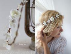 Haarkranz Brautkranz Haarschmuck Hochzeit *Mica* von Julmond auf DaWanda.com