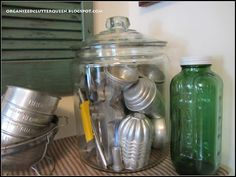 Here's another fun decorative way to store/display kitchen supplies/decorations.
