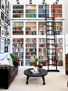 Home Library Rooms, Home Library Design, Dream Library, Home Libraries, Dream Home Design, House Rooms, My Dream Home, House Design, Cozy Library