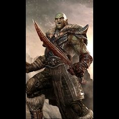 m Half Orc Fighter Heavy Armor Dual Swords male Mountain med Fantasy Heroes, Fantasy Races, High Fantasy, Fantasy Rpg, The Elder Scrolls, Elder Scrolls Skyrim, Orc Warrior, Fantasy Warrior, Dnd Characters