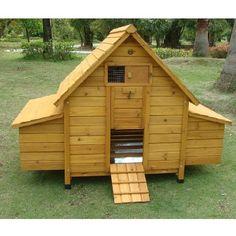 Casetta in legno per polli e galline solida e funzionale, è completa di posatoi e doppio cassetto per la deposizione. Modello XL per 10 galline