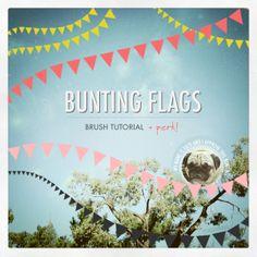 Bunting flags brush tutorial