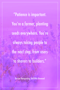 Patience in building your doTERRA business
