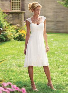 Evening Dresses - $109.50 - A-Line/Princess Sweetheart Knee-Length Chiffon Evening Dress With Ruffle (0175060195)