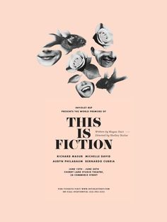 This is #Fiction #poster #collage #pink