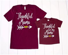Fall Mommy and Me Shirts, Thanksgiving Mommy and Me, Mommy and Me Fall Outfits, Fall Shirts, Thanksg Mom And Me Shirts, Mom Of Boys Shirt, Kids Shirts, Thanksgiving Baby, Thanksgiving Outfit, Halloween Shirts Kids, Nun Halloween, Mommy And Me Outfits, Fall Shirts