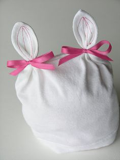 Cute bunny ears repurposed from an old t-shirt. I made this for my daughter around Easter. It was so easy!
