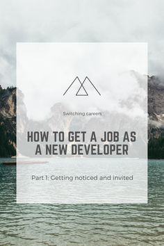 Part 1 in the getting a job as a new developer series. This part is about getting noticed by companies and recruiters, how to get invited for an interview as a developer without prior experience in a coding job.