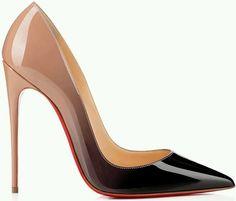 05e8817d8671e0 Zapatillas beige con negro Red Bottom Pumps, Hot High Heels, Womens High  Heels,