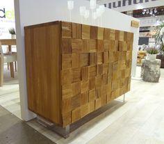 Woodek Nature-sarjan tamminen senkki. #sisustus #woodek #tammi #senkki #habitare2014 Sideboard, Cabinets, Divider, Room, Furniture, Home Decor, Armoires, Bedroom, Decoration Home