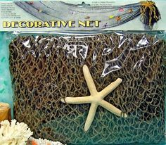 decorate for your beach house or beach party, beach theme wedding with Decorative Nautical Net with Starfish