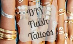 Love #FlashTattoos but not the price tag? The check out this incredible DIY!  via @ Chelsea Crockett