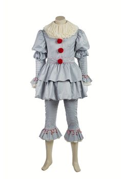 2017 IT Movie Pennywise The Clown Outfit Cosplay Costume |  CosplaySky.com