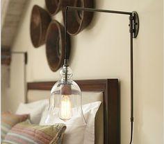 Lamp. http://www.potterybarn.com/m/products/madison-glass-pendant-sconce/moreimages.html?pkey=e%7Cscissor%2Barm%2Bsconce%7C206%7Cbest%7C0%7C1%7C24%7C%7C17