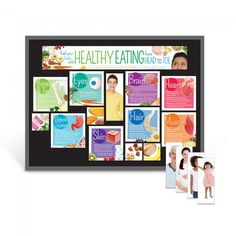 The Healthy Eating From Head to Toe Bulletin Board Kit features nutritious food choices and nutrients that benefit each part of the body the most.  Learning ZoneXpress
