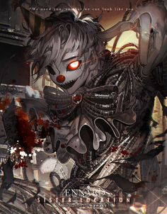 Ennard from fnaf sister location Anime Fnaf, Anime Manga, Anime Guys, Anime Art, Five Nights At Freddy's, Creepypasta, Desu Desu, Fnaf Sl, Fantasy Art