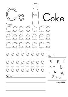 KraftiMama Free Printables, Alphabet, C for Coke Preschool Learning Activities, Free Preschool, Home Learning, Preschool Classroom, Preschool Worksheets, Grade R Worksheets, Afrikaans Language, Alphabet For Kids, Puzzles For Kids