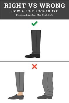 """How A Man's Suit Should Fit Is this the proper """"trouse break""""- Agree or Disagree? Mens Style Guide, Men Style Tips, Suit Fit Guide, Suit Fashion, Mens Fashion, Popular Mens Jeans, Real Men Real Style, Men Tips, Denim Jacket Men"""