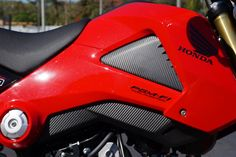 Honda Grom Carbon Fiber look Lower Gas Tank Decals