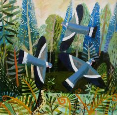 Woodpigeons by Mary Sumner