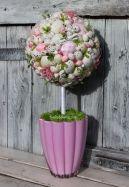 Stroik wielkanocna kula pastelowa - stroiki świąteczne, ozdoby wielkanocne, dekoracje na Wielkanoc