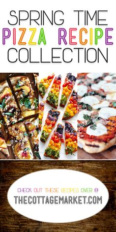 Is PIZZA one of your favorite foods…it is sure one of this families!  Well if you crave that crunchy crust…if you dream of strings of melted cheese…if you adore the smell of perfectly spiced tomato sauce…if you can't get enough of creative and tasty toppings…then this Spring Time Pizza Recipe Collection is for you! http://www.thecottagemarket.com/2014/03/spring-time-pizza-recipe-collection.html