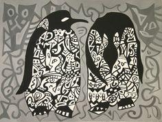 """""""Couple"""". Acrylic on canvas, 2002. Dimensions: 60 x 80cm"""
