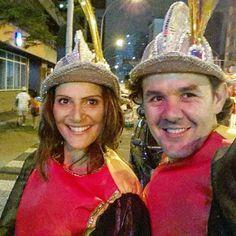 Com Tiago no desfile da Acadêmicos da Realeza.