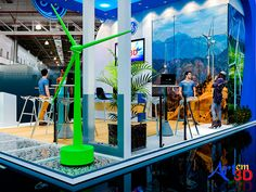 Stand Promocional I-1 - Art em 3D - Projeto desenvolvido para conclusão de Curso de Stand na Arquiteta.