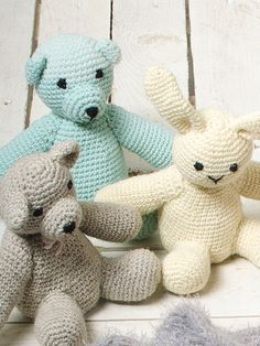 Wrap your arms around this cute crocheted bunny. The pattern is suitable for both Novita Baby Wool yarn and Novita Nalle yarn. Crochet Bunny, Free Crochet, Knit Crochet, Crochet Pillow, Crochet Hooks, Yarn Projects, Crochet Projects, Amigurumi Patterns