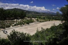The stadium of Ancient Nemea. Famed for its association with the First Labour of Hercules, its heady red wine, its serene natural beauty and the magnificent archaeological site, museum and ancient stadium, Nemea is a must-visit destination!  For more information, please visit www.eternalgreece.com/ancient-nemea/      #ancientnemea #Greece #Peloponnese #travel #holiday #holidays #vacation #vacations #archaeology #mythology
