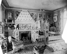 Bedroom, Griggs house, 432 Summit Avenue, St. Paul 1884